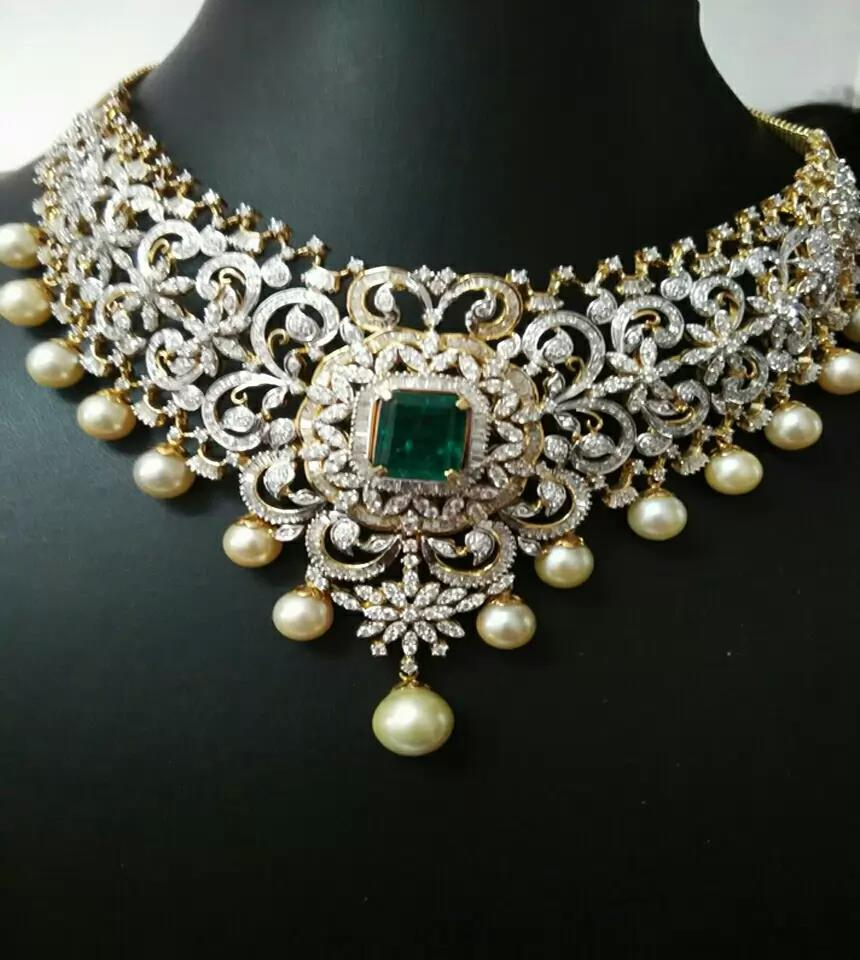 manepally and jewellers diamond indian gold com set haram designer jewellery bridal necklace from dimaond carat jewelorigins