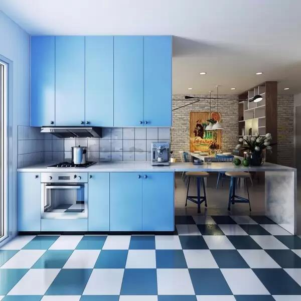 Blue kitchen  www.icraftdesign