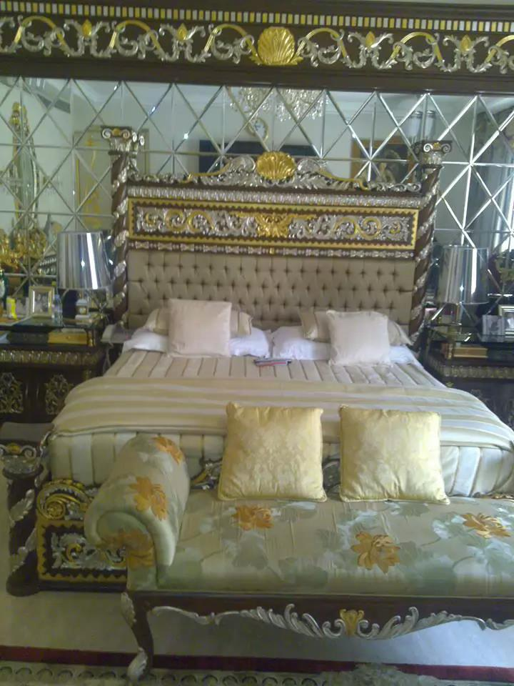 Gold Leafing Gilding on Bed in Mumbai