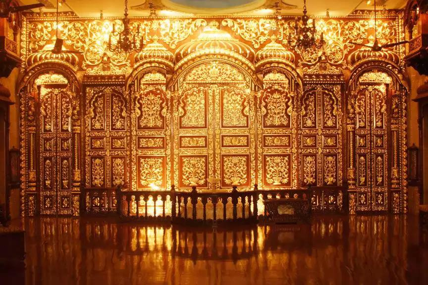 Architectural Gilding in India.