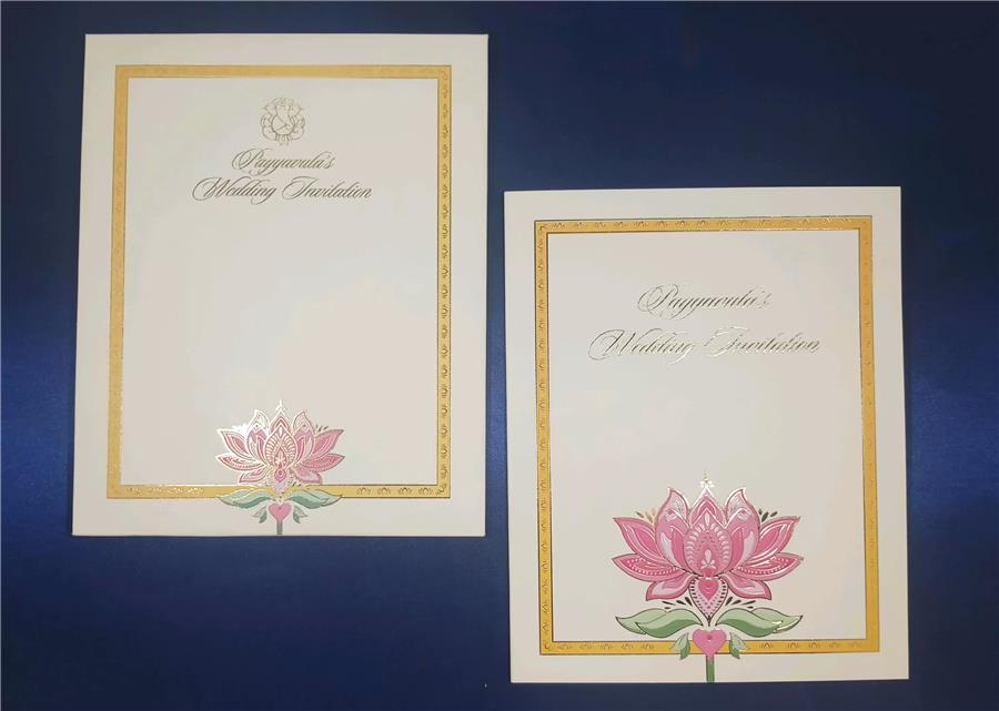 Flower based wedding card
