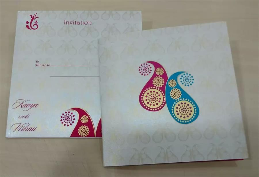 White Metallic Sheet Card