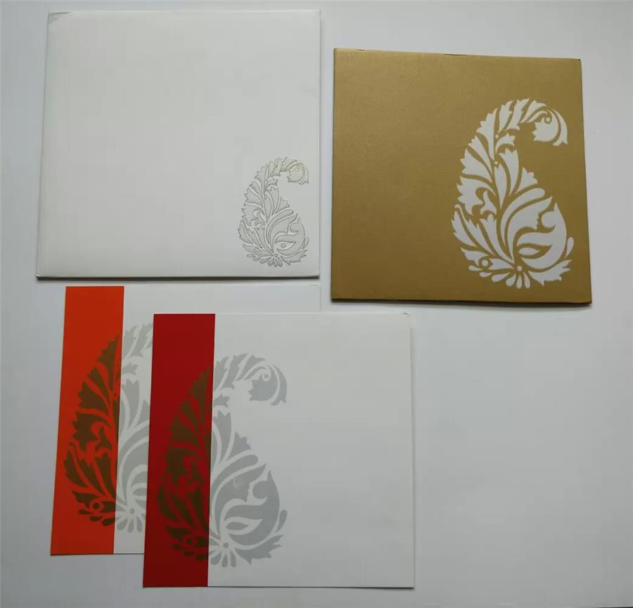 White and Gold combination card