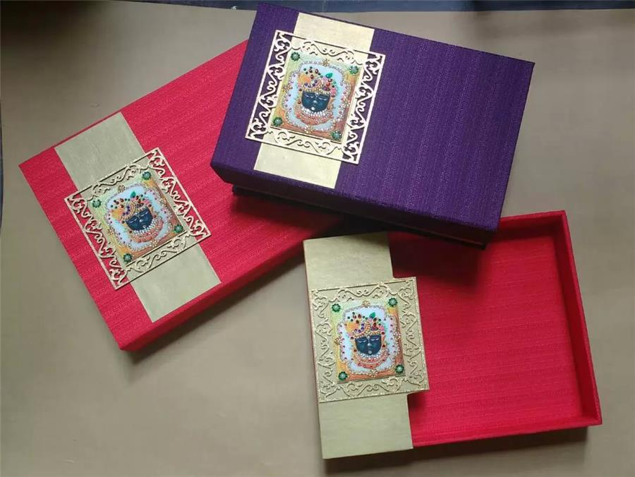 Purple and red khadi box