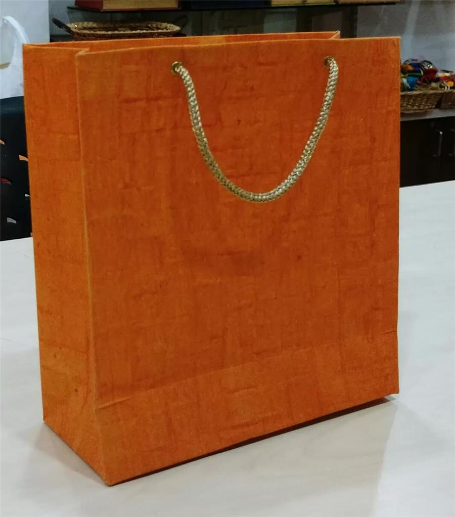 Orange Mat Handmade Paper Bag
