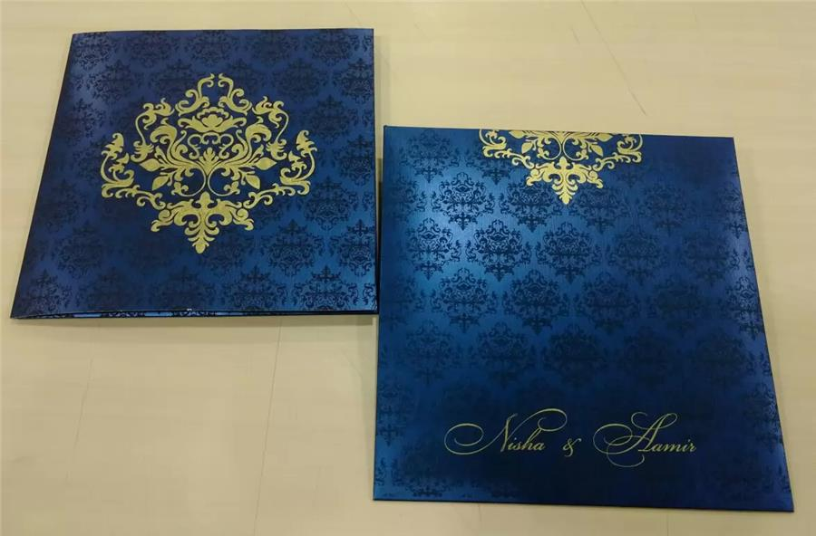 Blue Metallic Sheet Card