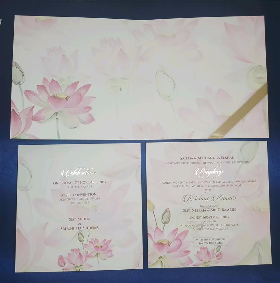 Balaji and flower theme card (inside view)