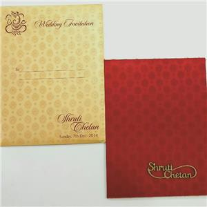 Metallic sheet and Satin Card