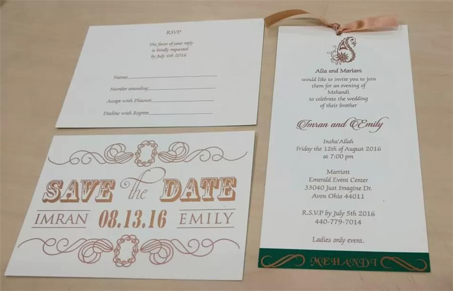 Save the Date, Mehandi card and RSVP Card