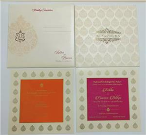 Cream metallic sheet card with Gold plating