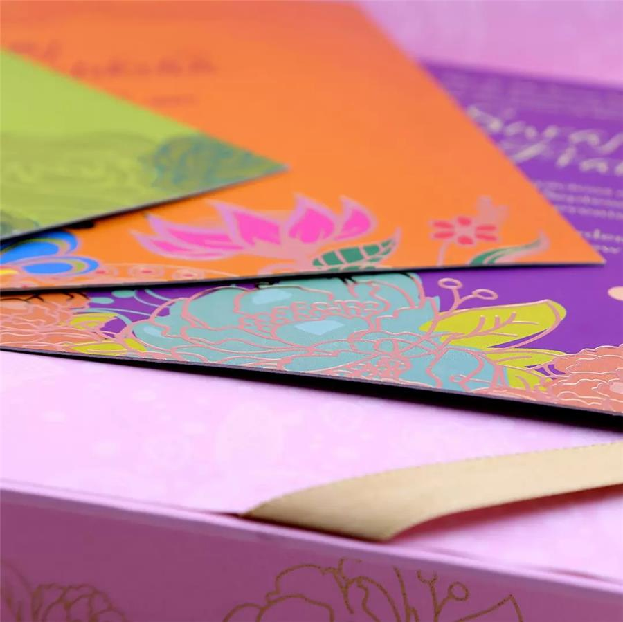 Multi-Colour Wedding Card