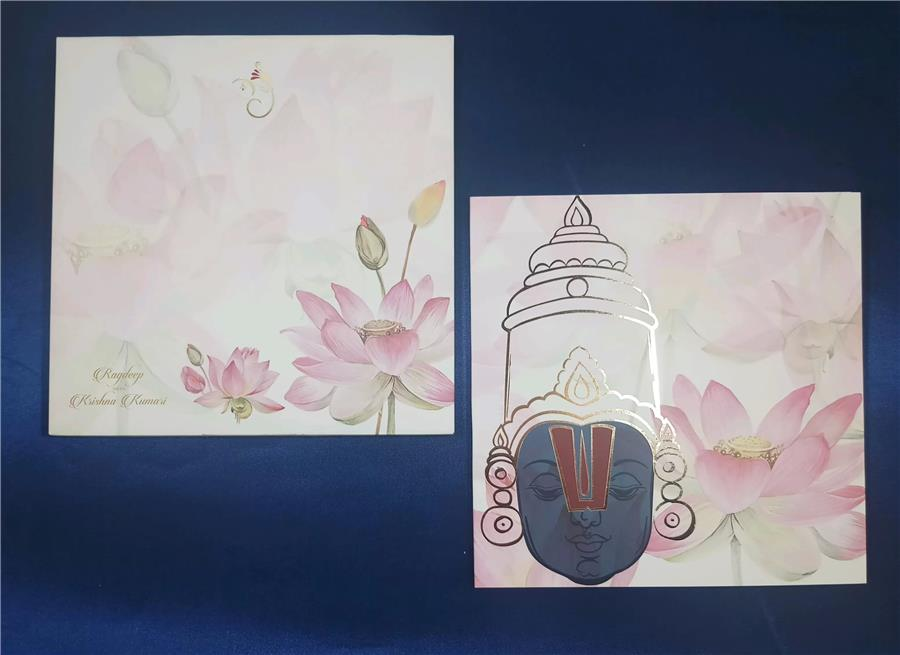 Balaji and flower theme card