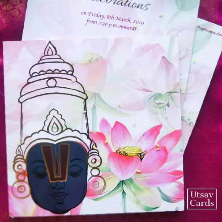 Balaji Theme Wedding Card