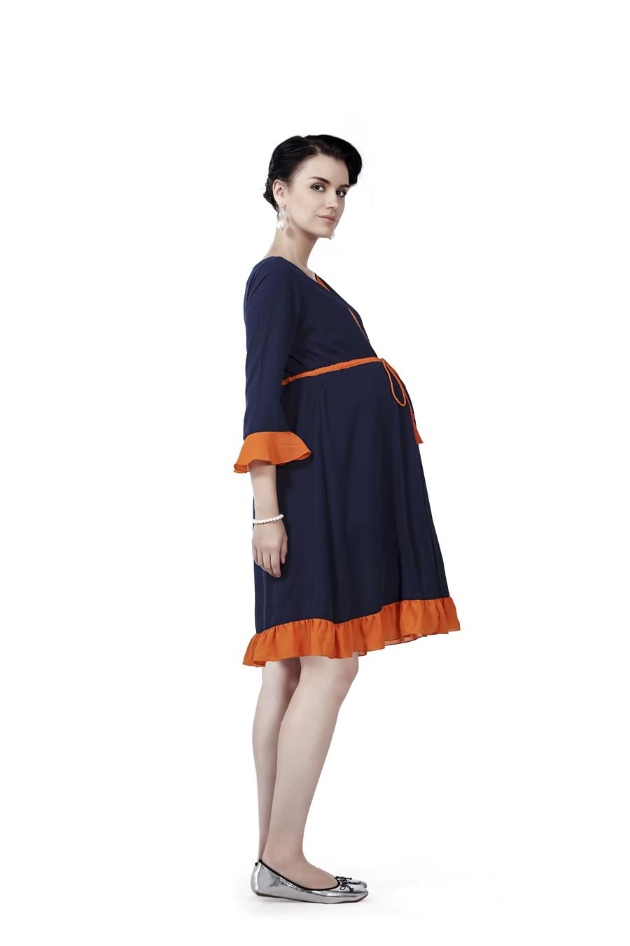 Innovative presents Ruffle Hem Maternity Dress