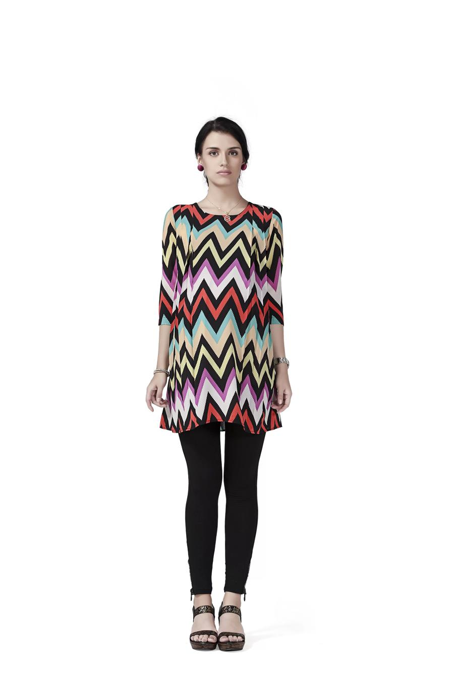 Innovative presents Maternity Tunic Top with Zig Zag shoulder pleats