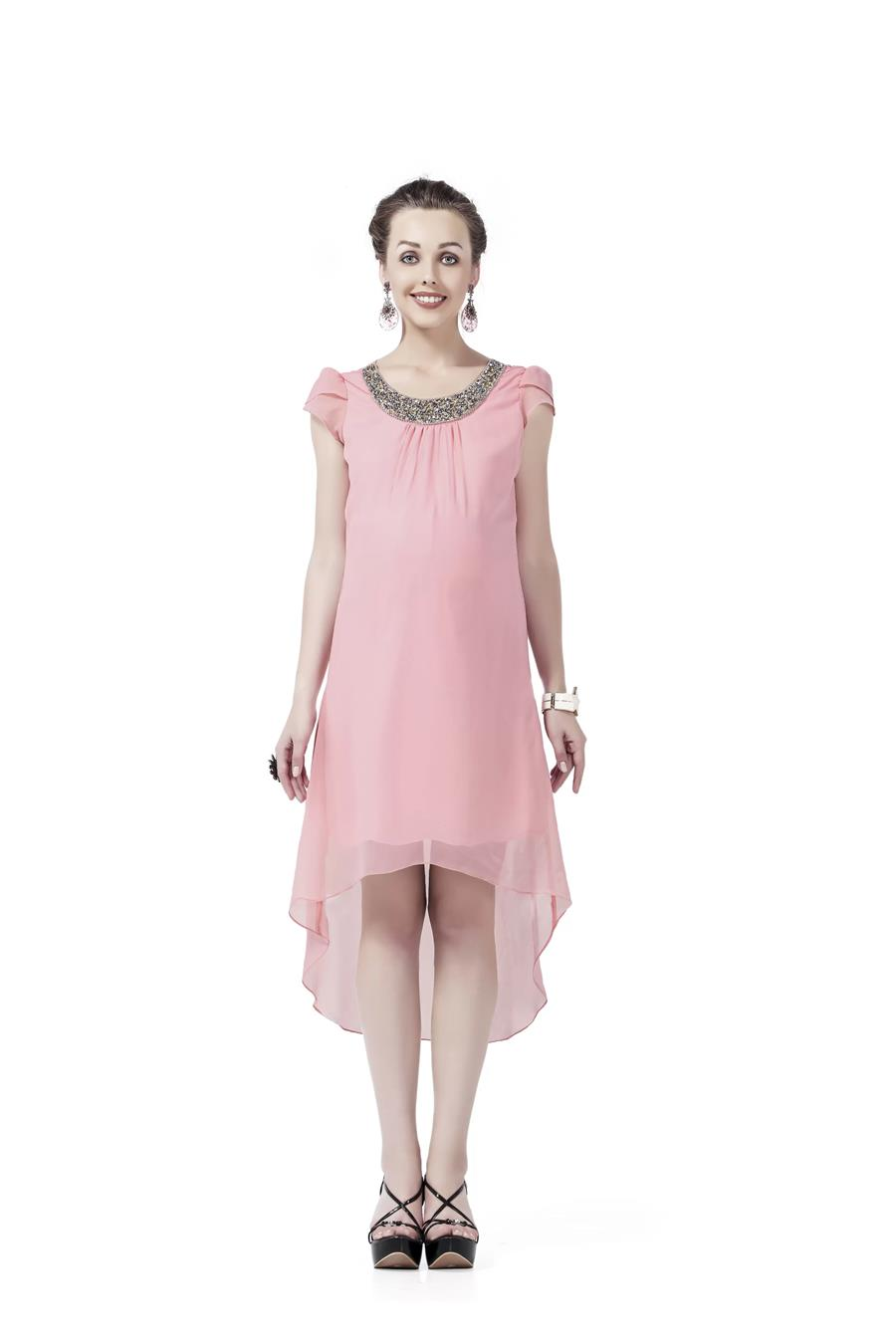 Innovative presents Silver Stone Embroidery Maternity Dress