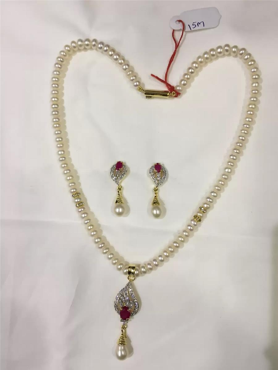 Natural Pearl Hanging Set 009