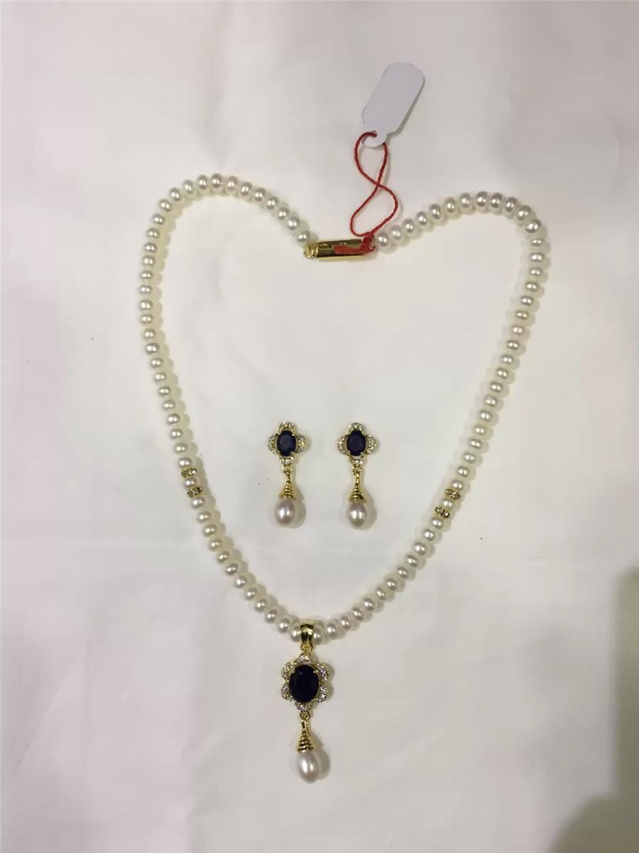 Natural Pearl Hanging Set 006
