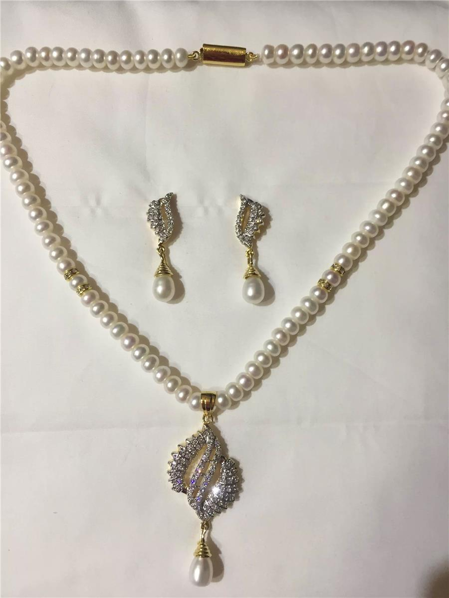 Natural Pearl Hanging Set 001