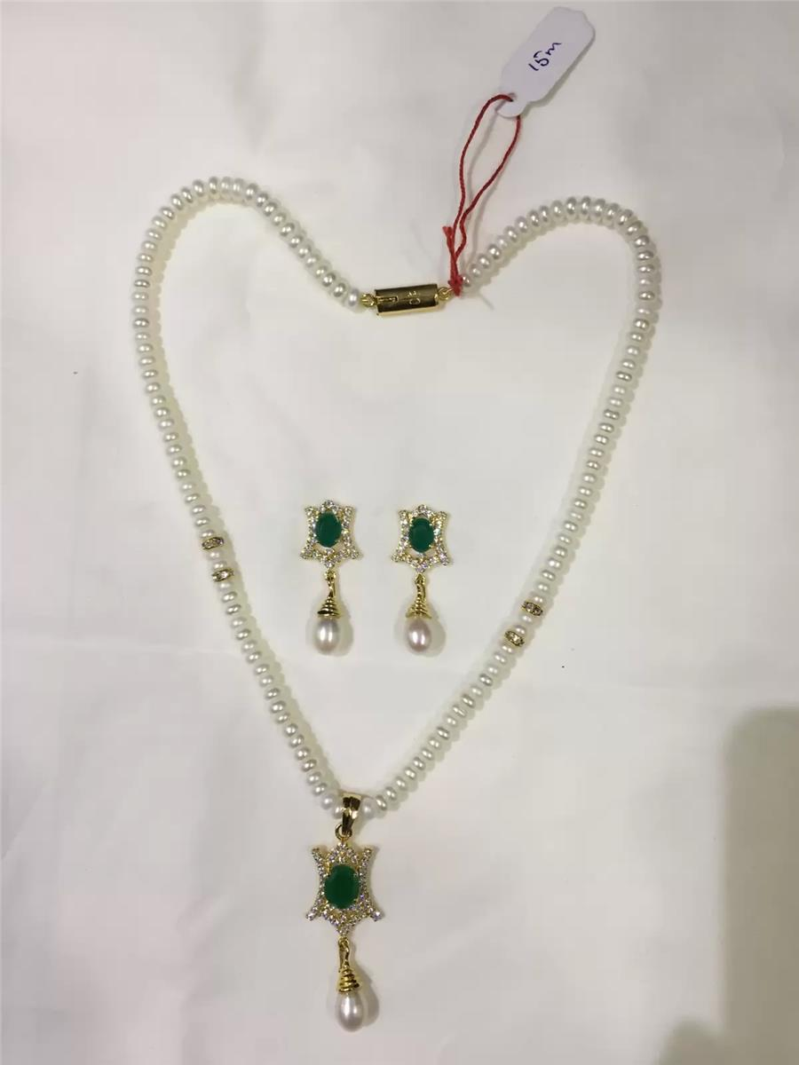 Natural Pearl Hanging Set 003