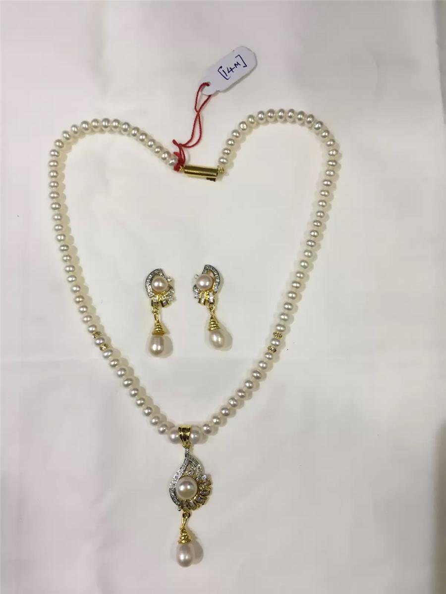 Natural Pearl Hanging Set 002