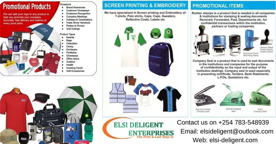 Promotional Items,Screen Printing & Company Seals / Stamps