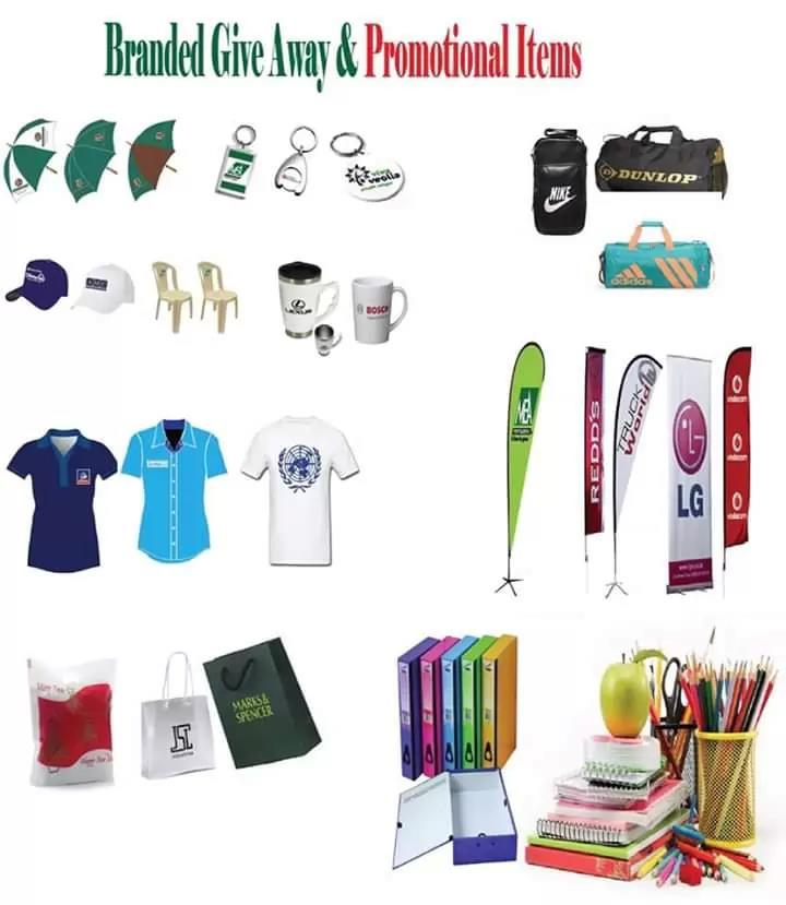 Promotional items Branding