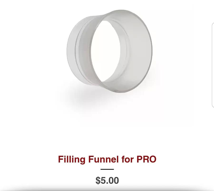 filling funnel for pro