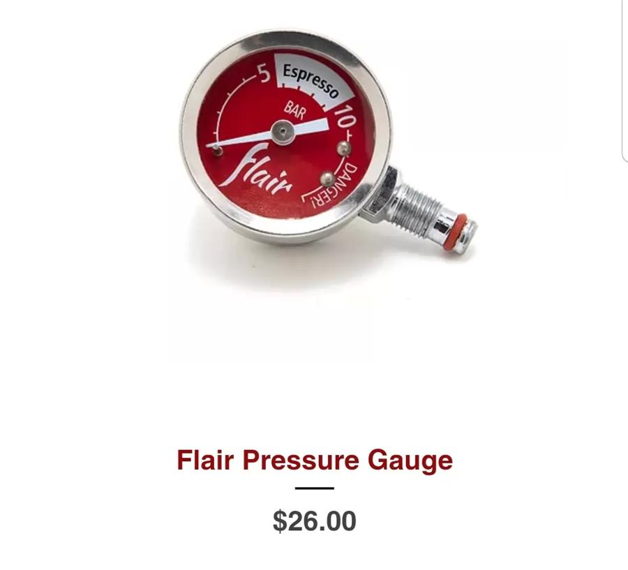 Flair pressure gauge