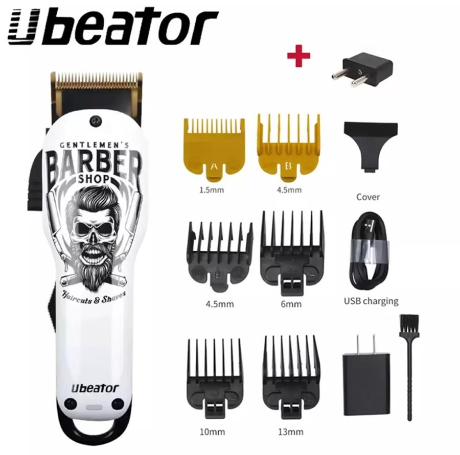 ($39.99) UBEATOR Rechargeable Barber Cordless Electric Beard T-Blade Professional Trimmer Grooming H