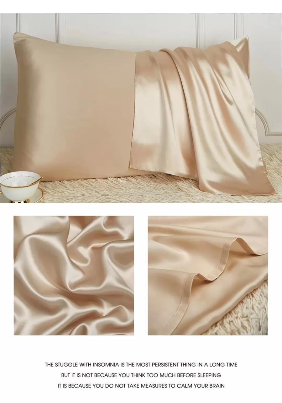 100% Pure Mulberry Silk pillowcase, real natural silk