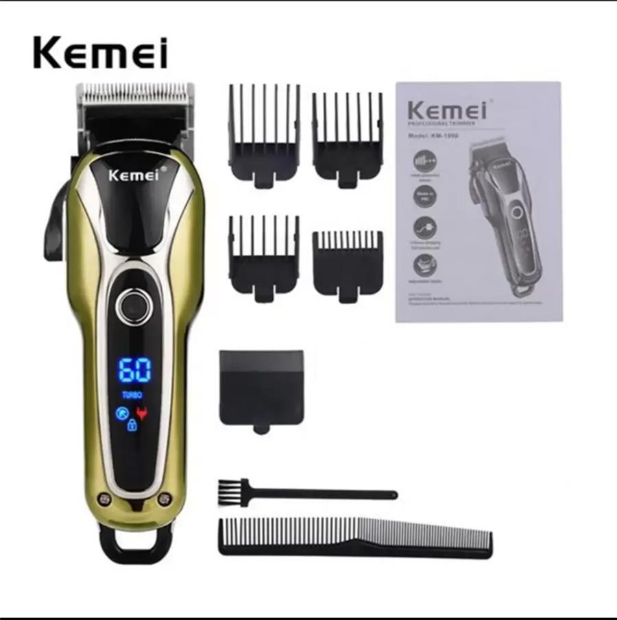 ($23) Kemei KM-1990 100-240V Fast Charge Hair Clipper Stainless Steel Blade Trimer Cutter Cordless