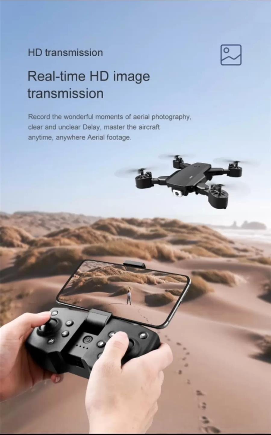 ($75)2021 NEW S600 Drones 4K HD Double shot Aerial Photography RC Helicopter Foldable Quadcopter Pro
